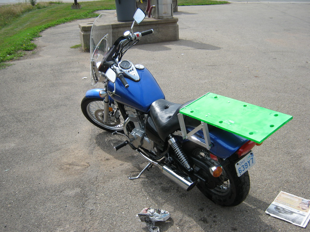 how to carry luggage on a motorcycle