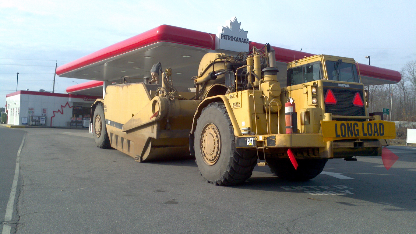 Parry Sound huge truck gas station