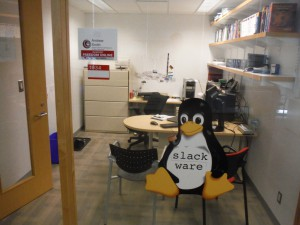 Office slackware penguin sticker